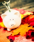 Autumn Piggy Bank