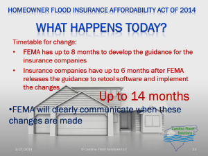 Homeowner Flood Insurance Affordability Act Of 2014